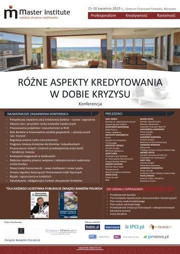 wiedza stwarza mo¿liwoœci - Master Institute