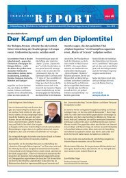 Industrie-Report Dez. 2010 - Fachbereich Medien, Kunst und ...