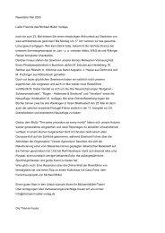 Michael Müller Verlag - Newsletter Mai 2005