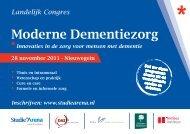Congresprogramma Moderne Dementiezorg 2011.pdf - StudieArena