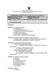 DISCIPLINA: Sistemas Produtivos de Plantas e Uso de Substratos ...