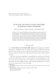 On scalar and total scalar curvatures of Riemann-Cartan manifolds