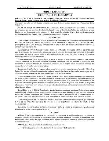 PODER EJECUTIVO SECRETARIA DE ECONOMIA