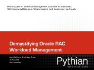 Demystifying Oracle RAC Workload Management Part - NoCOUG