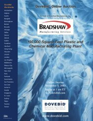 DoveBid® Online Auction DoveBid® Online Auction 100000 Square ...
