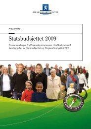 Pressemelding - Statsbudsjettet