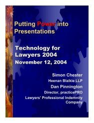 Putting Power into Presentations - practicePRO.ca