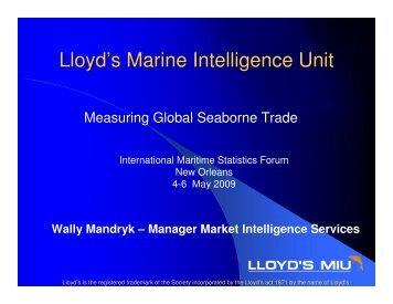 Measuring Global Seaborne Trade - IMSF