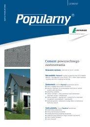 Karta produktowa cementu Popularny - Lafarge