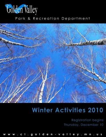 Winter Activities 2010 - City of Golden Valley