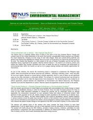 Focus on Biodiversity Conservation and Climate ... - Faculty of Law