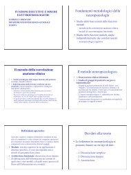 Funzioni Esecutive e misure elettrofisiologiche - Bisiacchi - Aidai