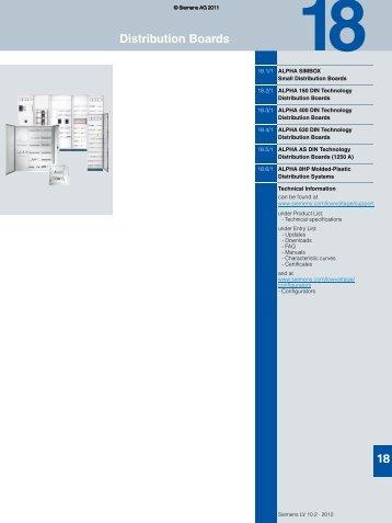 ALPHA 400 DIN Technology Distribution Boards - Siemens