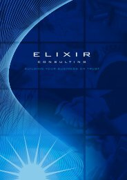 BUILDING YOUR BUSINESS ON TRUST - Elixir Consulting