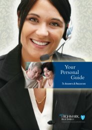 Your Personal Guide - Highmark Blue Shield