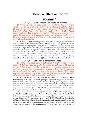 Seconda Lettera ai Corinzi, da 1 a 7
