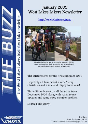 January 2009 West Lakes Lakers Newsletter - the Lakers Triathlon ...