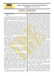 1 Temmuz 2007 Pazar - IDE - Ispartada Doğa Eğitimi