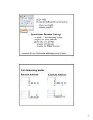 Spreadsheet Problem Solving Cell Addressing Modes ... - cribME!