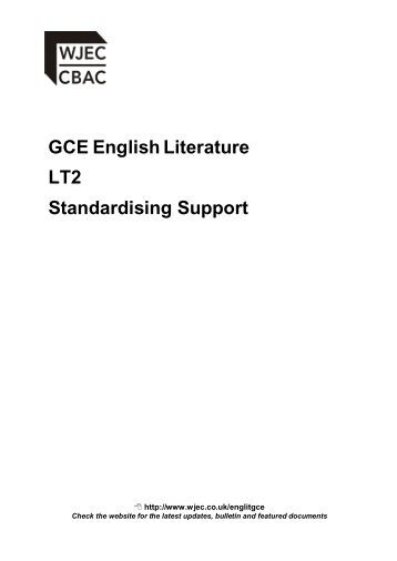 WJEC English Literature help!?