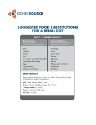 Food Substitution Tables (Nepro) - Abbott Nutrition