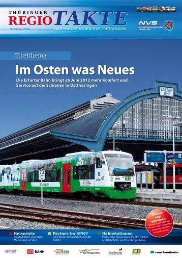 Im Osten was Neues - NVS Nahverkehrsservicegesellschaft ...