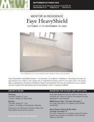 Faye HeavyShield - Mentoring Artists for Women's Art