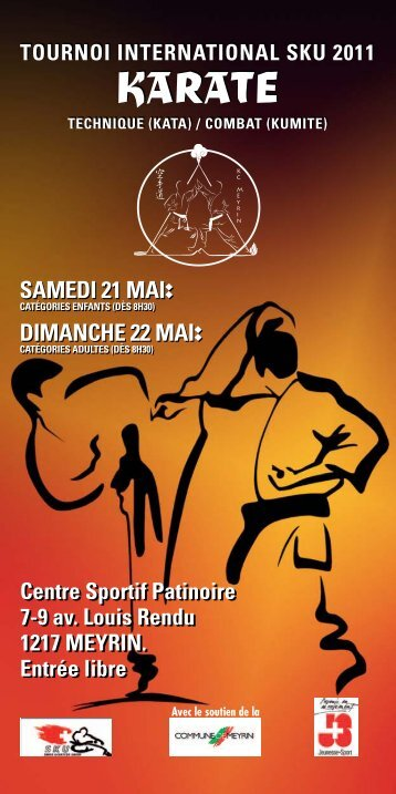 Tournoi national SKU à Meyrin - Ippon Karate Club Tivoli