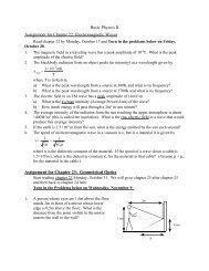 Chapters 22-23 - Physics @ CSU Stanislaus