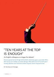 """""""TEN YEARS AT THE TOP IS ENOUGH"""" - Henning von Vieregge"""