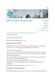 BIKE TO WORK: INFOMAIL MAI