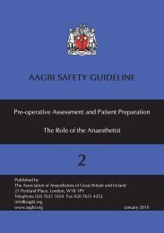 Pre-operative Assessment and Patient Preparation - aagbi