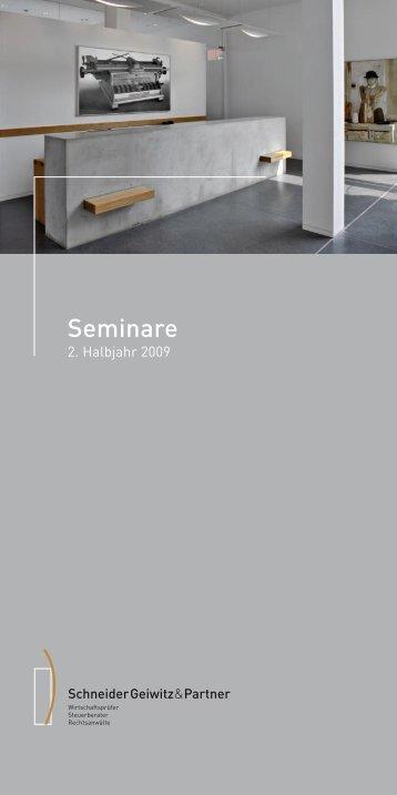 Seminare - Schneider Geiwitz & Partner