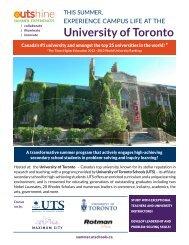 Summer 2014 Brochure - University of Toronto Schools