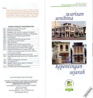 Risalah 011 Warisan Senibina dan Kepentingan Sejarah - JPBD