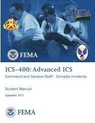 ICS-400: Advanced ICS - Ohio Emergency Management Agency