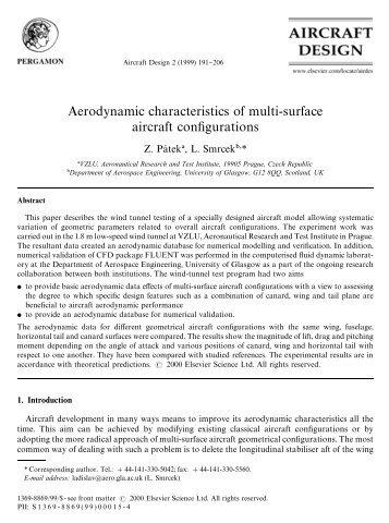 Aerodynamic characteristics of multi-surface ... - UFSC Aerodesign