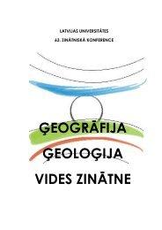 Latvijas Universitātes 63. konferences LU Ģeogrāfijas un Zemes ...