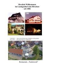 Der Blick in die Speisekarte - Landgasthof Zum Hirschen