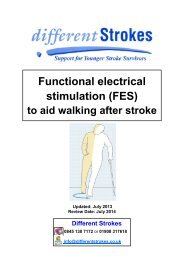 Functional electrical stimulation (FES) - Different Strokes