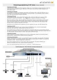 Visio-Tilslutningsvejledning Visipia standard 21-08-2009.vsd - ComX