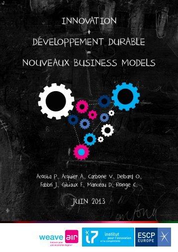 innovation + développement durable = nouveaux ... - weave AIR