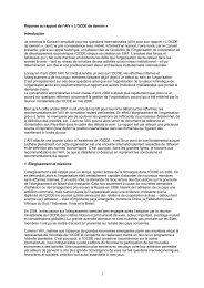 Réponse au rapport de l'AIV « L'OCDE de demain » Introduction Je ...