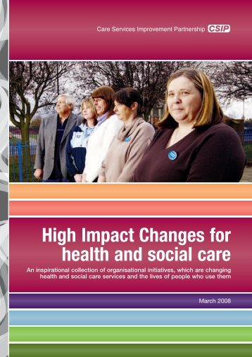 High Impact Changes for health and social care - DH Care Networks