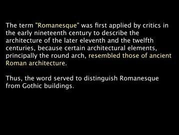 Lecture 6 Romanesque