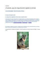 L'Australie, pays de méga-diversité végétale et animale - Canalblog