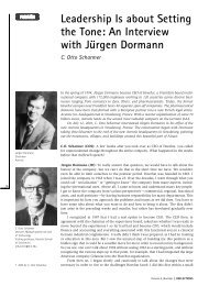 An Interview with Jurgen Dormann - Otto Scharmer