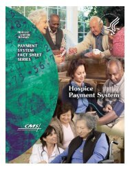 Hospice Payment System brochure - Kidney Supportive Care