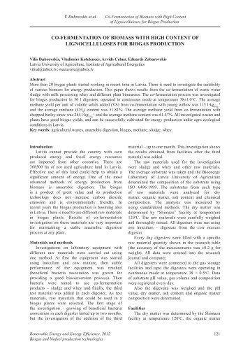 co-fermentation of biomass with high content of lignocelluloses for ...