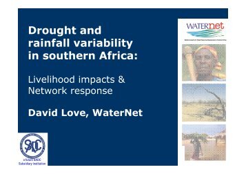 Drought and rainfall variability in southern Africa: